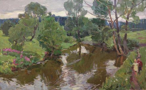«У реки» 1970 е - Кокин Михаил Александрович