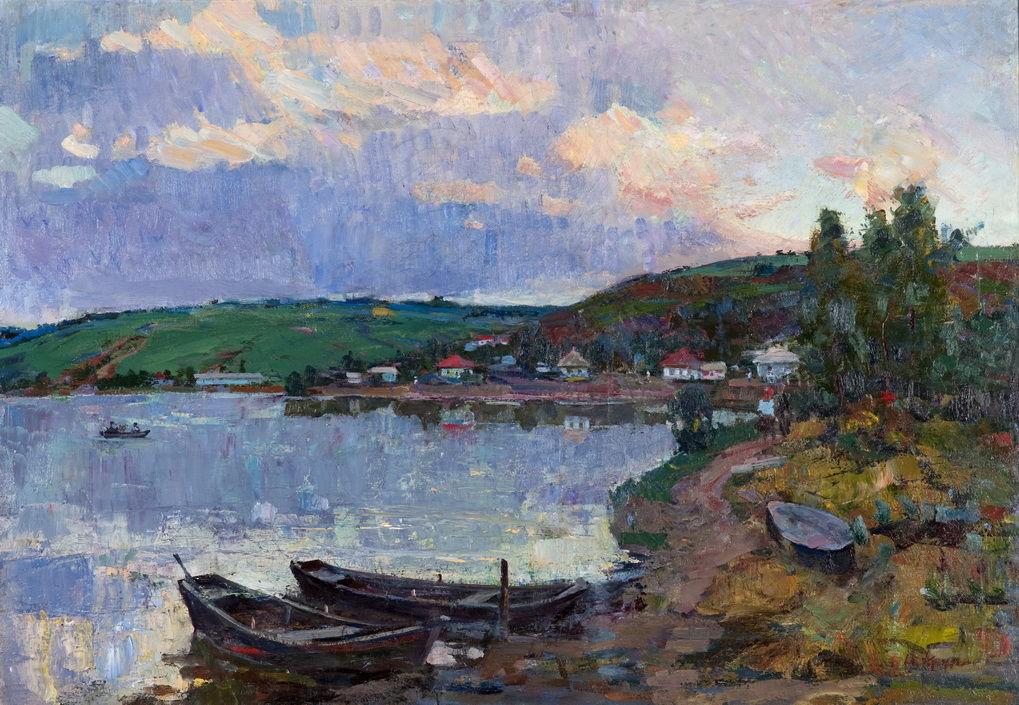 «Вечер. У озера» 1967 - Крупский Иван Иосифович