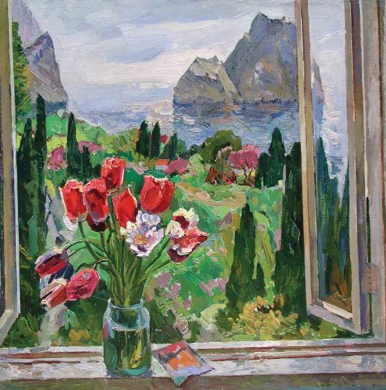 «Цветы на фоне моря» 1980 - Кокин Михаил Александрович