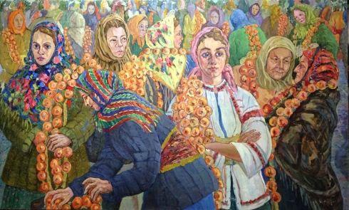 «Луковый базар на Сенном рынке» 1969 - Ягодин Вячеслав Владимирович