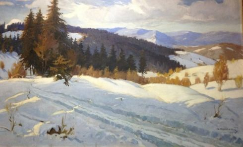 «Зима в Карпатах» 1954 - Кашшай Антон Михайлович