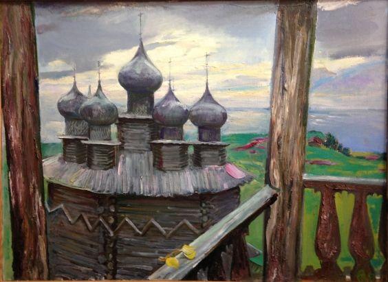 «Кижи. Покровская церковь» 1980 - Титова Ольга Геннадьевна