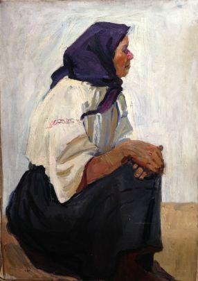 «Портрет старухи» 1960 е - Титова Ольга Геннадьевна