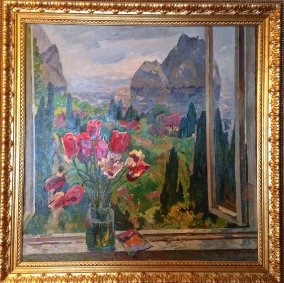 «Цветы на фоне моря»-Кокин Михаил Александрович