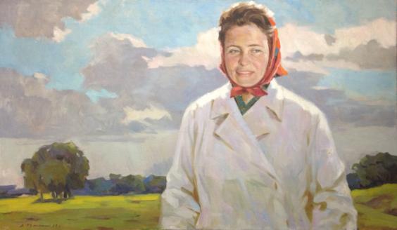 «Портрет доярки» 1960 - Думенко Сергей Данилович