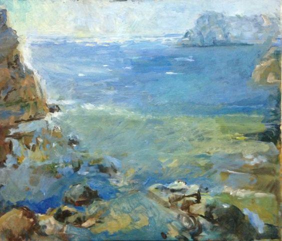 «Морской пейзаж . Камни» 1994 - Бессараба Леонид Павлович