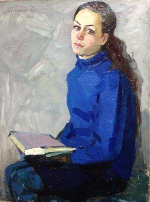 «Портрет студентки» 1975 - Бессараба Леонид Павлович