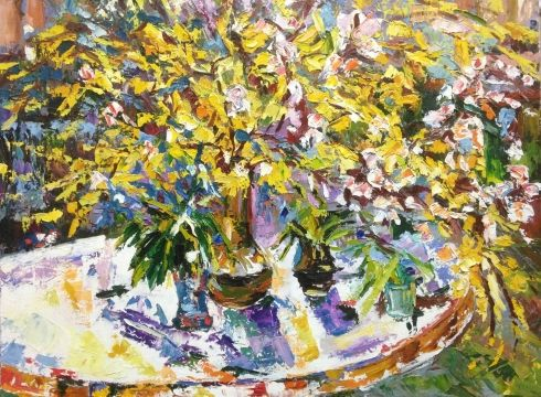 «Весенний натюрморт» 1980 е - Шаповалов Сергей Гаврилович