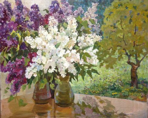«Сирень в саду» 1978 - Янчак Елена Вацлавовна