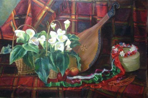 «Натюрморт с Каллами» 1987 - Галькун Татьяна Дмитриевна