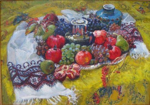 «Натюрморт с виноградом» 1987 - Максименко Николай Антонович