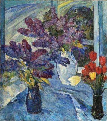 «Сирень и тюльпаны» 1990 - Ткаченко Андрей Зиновьевич