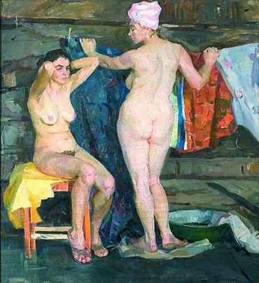 «После бани» 1960 е  - Самусев Федор Афанасьевич