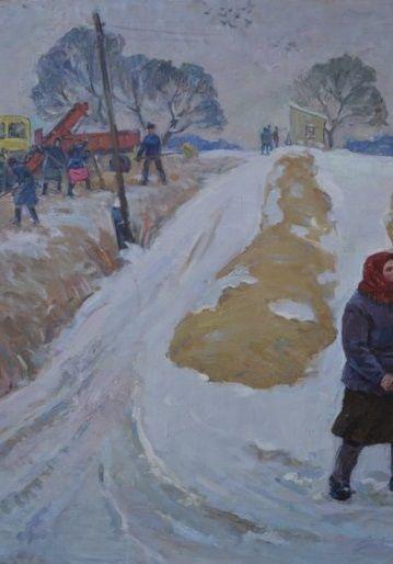 «На зимних буртах»-Лавриненко Вячеслав Иванович
