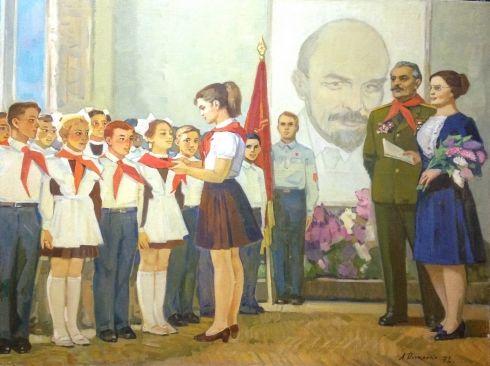 «Прием в пионеры» 1972 - Довженко Анатолий Иванович