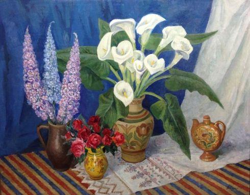 «Натюрморт с Каллами» 1979 - Захаров Александр Николаевич
