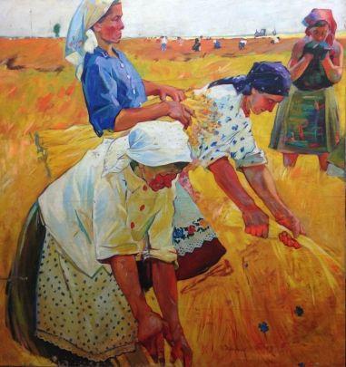 «Выбирают лен» 1960 е - Зарецкий Виктор Иванович