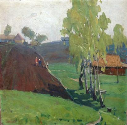 «На огороде» 1970 е - Бессараба Леонид Павлович