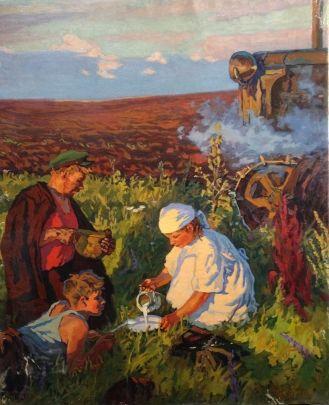 «Ужин трактористов» 1960 е  - Кириченко Степан Андреевич