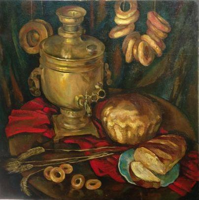 «Натюрморт с колосками» 1981 - Солдатов Геннадий Васильевич