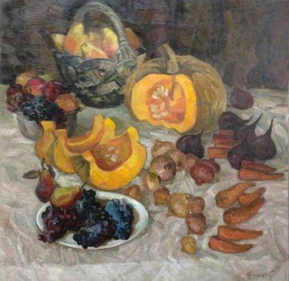 «Натюрморт Осень» 1970 е - Шеремет Александр Петрович