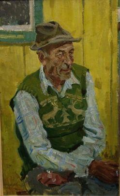 «Портрет ветерана сплав-участка Дарилюка Т.В.» 1970 е - Клець Иван Тарасович