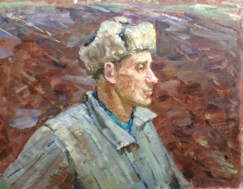 «Земля. Портрет тракториста Ивана Литовского» 1976 - Клець Иван Тарасович