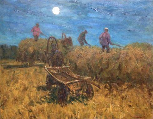 «Уборка сена в ночное» 1995 - Ковтун Виктор Иванович