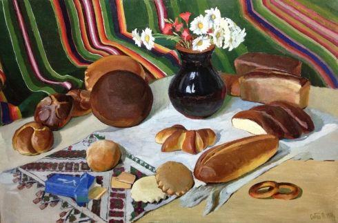 «Натюрморт с Хлебами» 1970 - Собко Петр Степанович