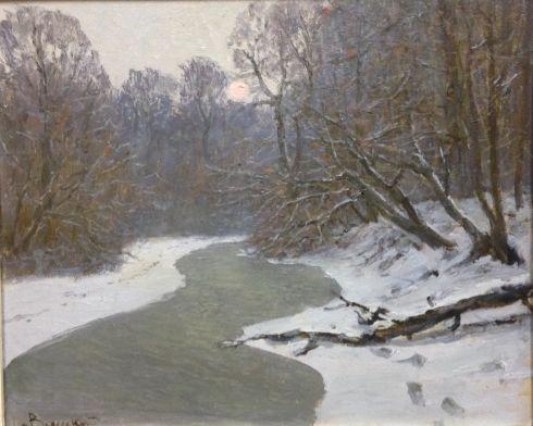 «Зимняя река» 1960 е - Вольский Александр Павлович