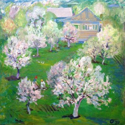 «Сад в цвету» 1992 - Титова Ольга Геннадьевна
