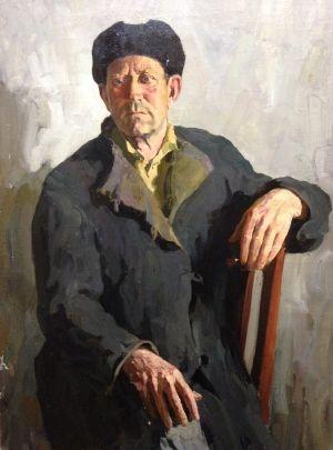 «Портрет передовика-механизатора Н.К. Киселева» 1963 - Кабанов Виктор Павлович