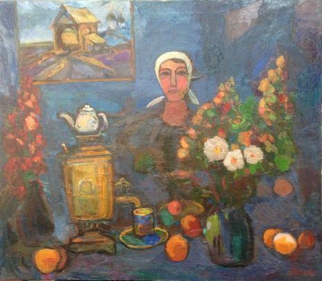 «У самовара» 1970 е - Илюшин Алексей Андреевич