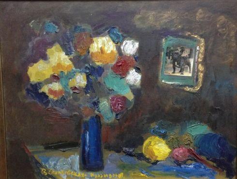 «Натюрморт с синей вазой» 2009 - Спиндовская-Паламарь Оксана