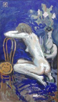 «Обнаженная со стулом» 1970 е - Павлов Виктор Анатольевич