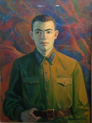 «Портрет Героя СССР Гастелло Н.Ф.» 1981 - Артамонов Алексей Михайлович