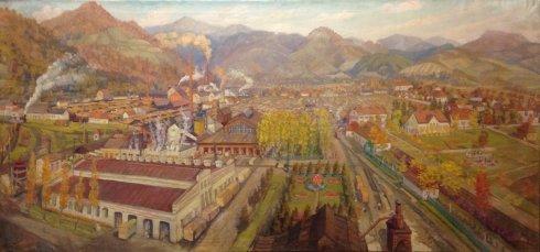 «Индустриальный пейзаж-наш город» 1959 - Манайло Федор Федорович