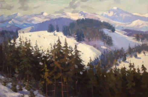 «Зима в Карпатах» 1970 - Якубек Карел Михайлович