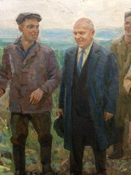 «Никита Сергеевич Хрущев в передовой бригаде»-Слета Петр Дорофеевич