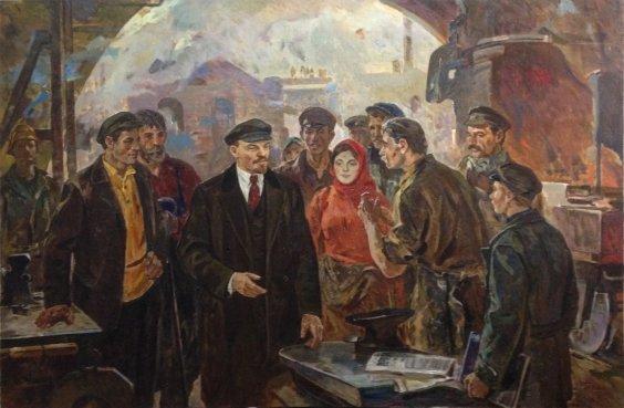 «Ленин с рабочими з-да Серп и Молот» 1986 - Горшков Николай Дорофеевич