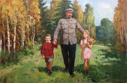 «В.И. Ленин среди детей» 1969 - Сидоров Алексей Евдокимович