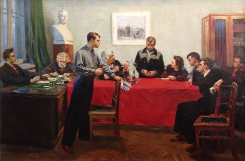 «Обсуждение двойки» 1950 - Григорьев Сергей Алексеевич
