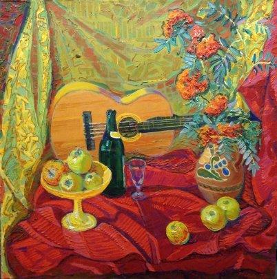 «Натюрморт с яблоками» 1970 - Чвала Дмитрий Андреевич