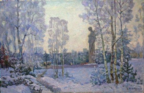 «Зимой в парке» 1980 - Швец Виктор Александрович