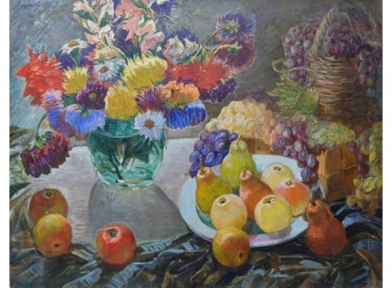 """Flowers and fruits"" 1970 е - Lyashkov Anatoly Yakovlevich"