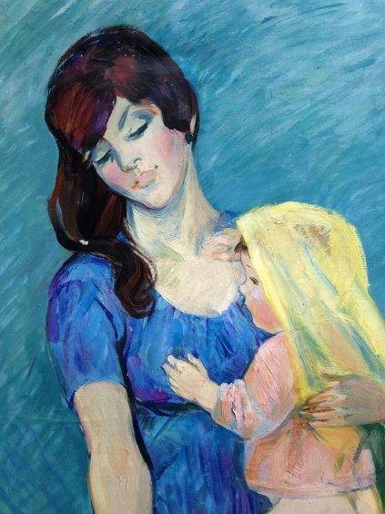 """Mother and Child""-Titova Olga Gennadievna"