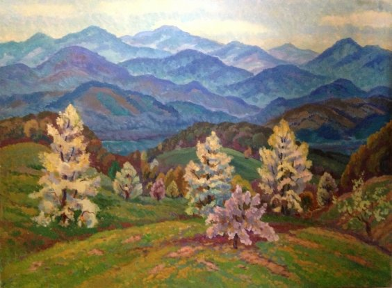 """Spring in the Carpathians"" 1970 е - Shepa Anton Alekseevich"