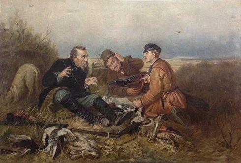 «Охотники на привале» 1950-1960 - Одайник-Самоойленко Зоя Алексаандровна