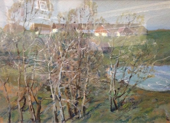 """Landscape after the village"" 1970 е - Karmaz Nikolai Afanasievich"