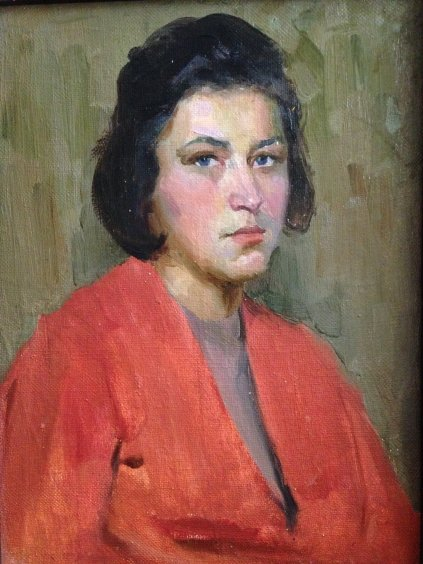 """Female portrait"" 1960 е - Lukyan Andrey"